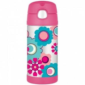 Detská termoska so slamkou - kvety - BeBaby - Všetko pre Vaše detičky d44818cd30d