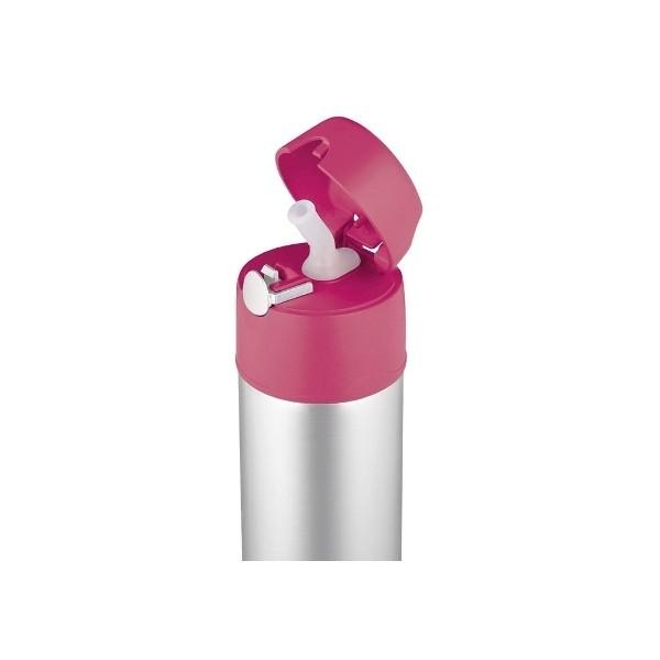 Detská Termoska so slamkou - ružová 78822f8ecdc