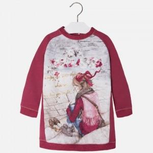 Dievčenské šaty tunika MAYORAL 4900 bordová - BeBaby - Všetko pre ... 165ec9f27e8