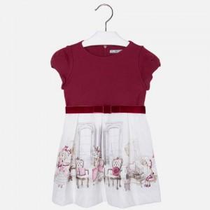 Dievčenské šaty MAYORAL 4934 červené - BeBaby - Všetko pre Vaše detičky 2713ff7deab