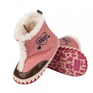 f557d0f7b376 Zateplené papučky SOXO ružové - BeBaby - Všetko pre Vaše detičky