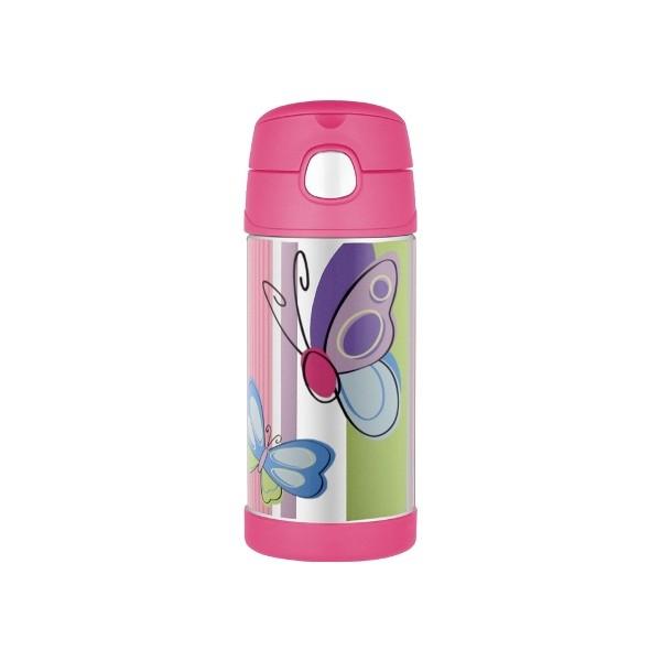 Detská termoska so slamkou - motýľ - BeBaby - Všetko pre Vaše detičky 933d19d07d3