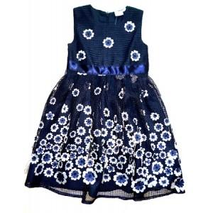Slávnostné dievčenské šaty tmavomodré - BeBaby - Všetko pre Vaše detičky 99882ac947b